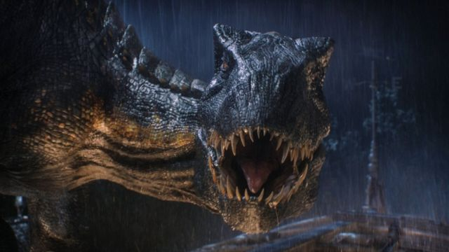 Animal inspirado no T. rex do filme Jurassic World