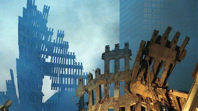Escombros das torres do WTC