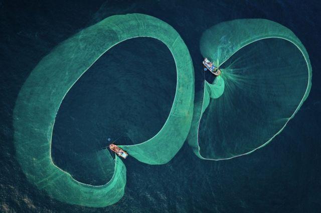 Pesca de anchoas en Vietnam