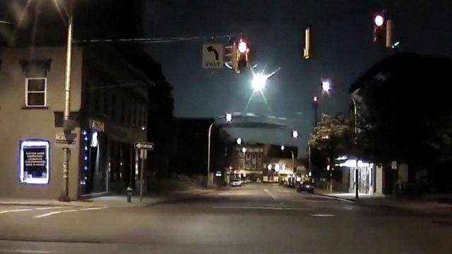 fireball captured on dashcam video