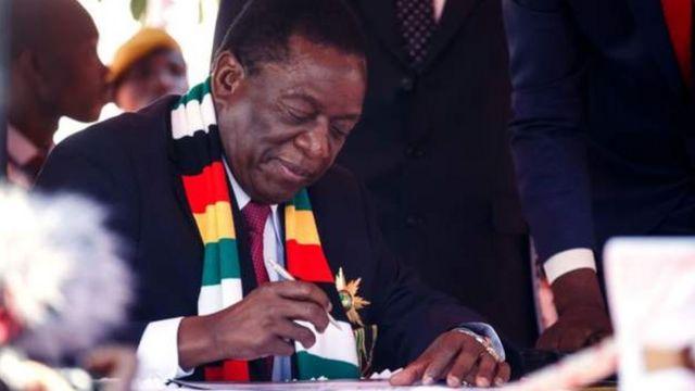 Nta muntu wo mu batavuga rumwe na leta ugaragara muri leta yatangajwe na Bwana Mnangagwa ku wa gatanu