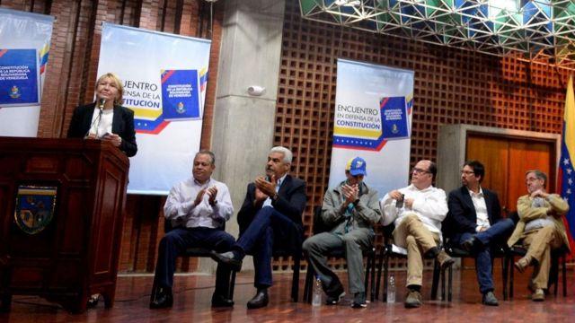 Ortega y miembros de la oposición venezolana.