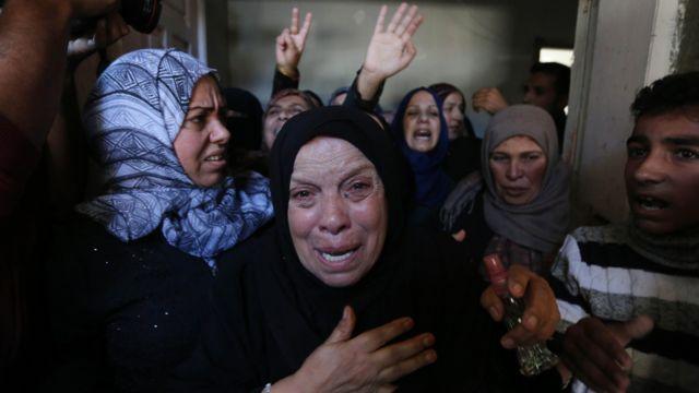 أقارب الضحايا في غزة