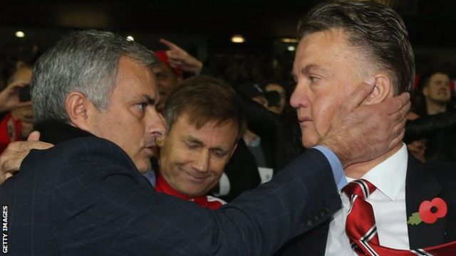 Jose Mourinho na Louis van Gaal