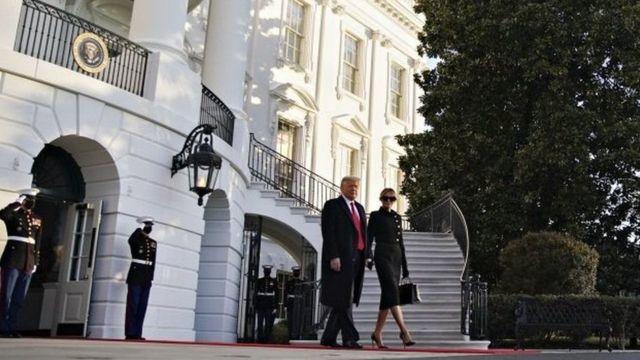 Trump ayaa maanta banneeyay Aqalka Cad