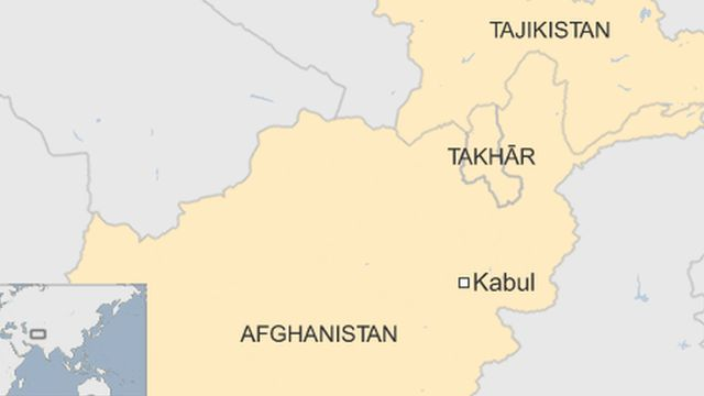 Map of Takhar province