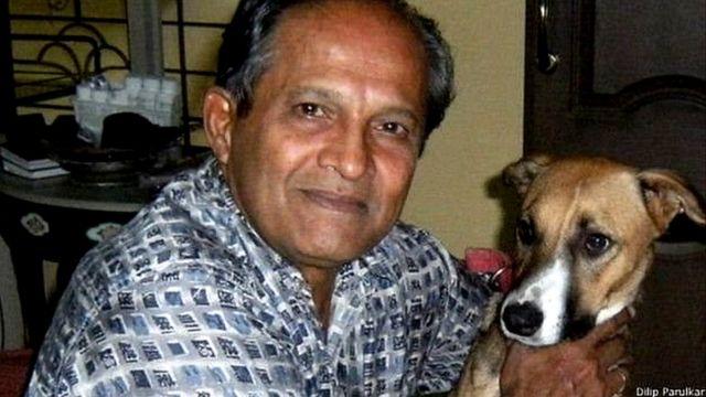 DILIP PARULKAR WITH HIS DOG