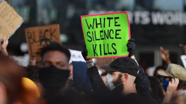 Protesta en Nueva York.