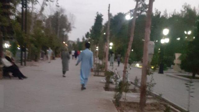 تصویری که انصاف نیوز از ساعت هشت شب دیشب در پارک ملت منتشر کرده است
