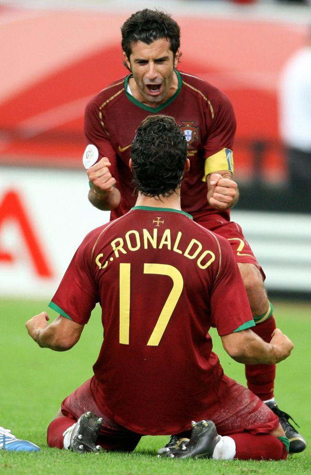 Luis Figo y Cristiano Ronaldo
