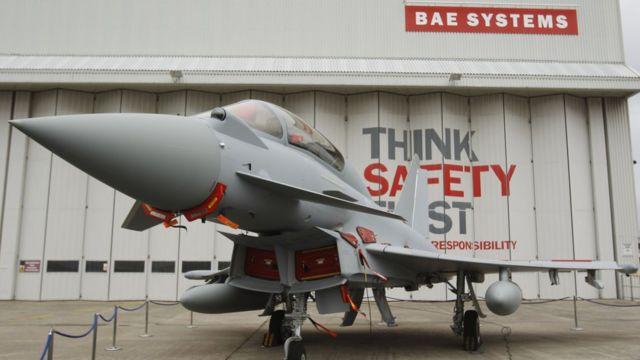 مقاتلات تايفون أبرز عناصر الصادرات العسكرية البريطانية للسعودية