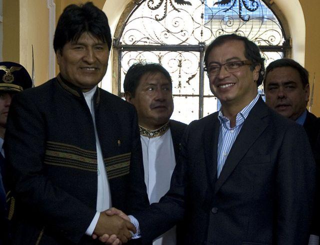 Evo Morales y Petro