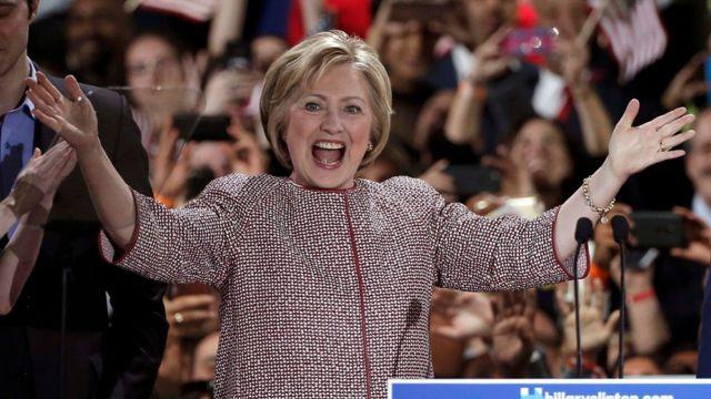 Hillary Clinton in New York.
