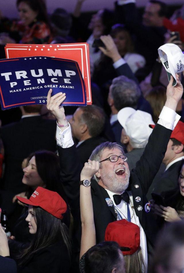 Дональд Трамптын жактоочулары Нью-Йоркто жеңишти белгилөөдө