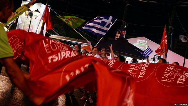 Manifestação política na Grécia