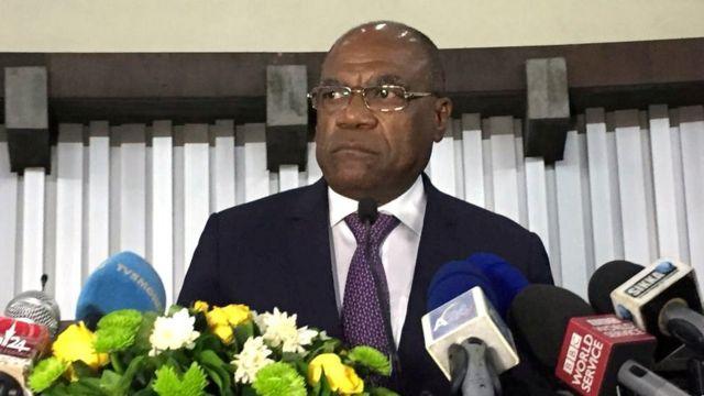 Le Ministre congolais des Affaires Etrangères She Okitundu