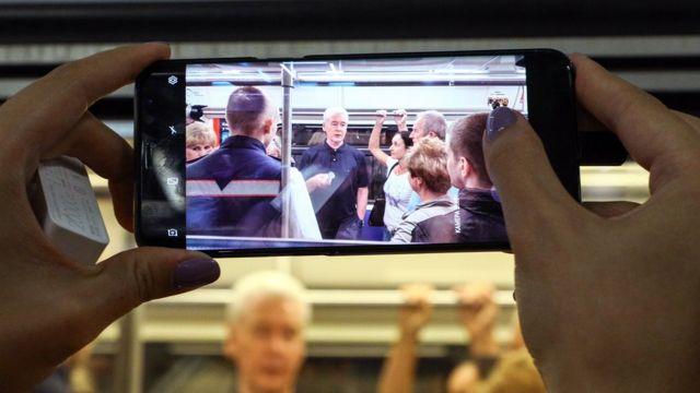 Мэр Москвы Сергей Собянин в метро
