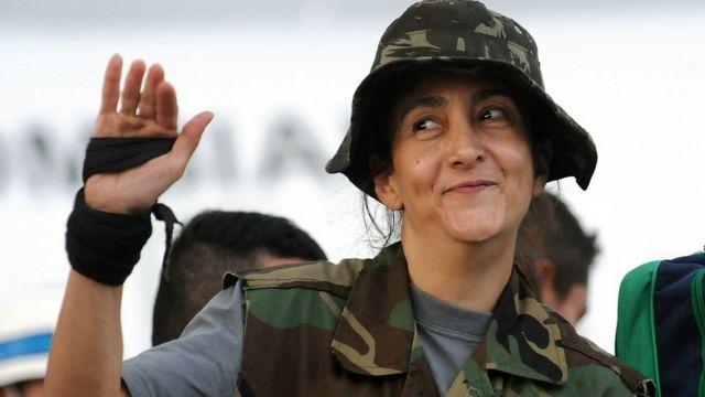 Ingrid Betancourt en una foto de archivo de 2008