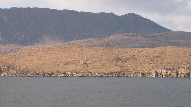 Остров Мартин, вид с моря