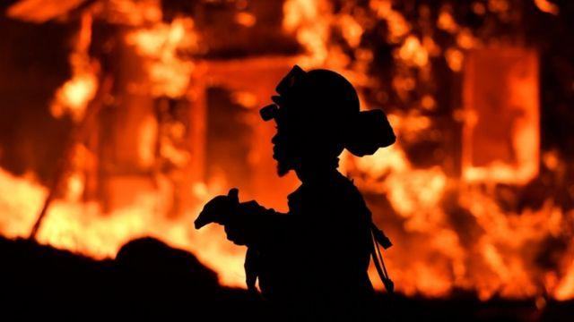 ماموران آتش نشانی از سایر نقاط کالیفرنیا به محل آتش سوزی رفته اند
