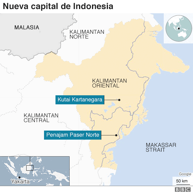 Nueva capital de Indonesia