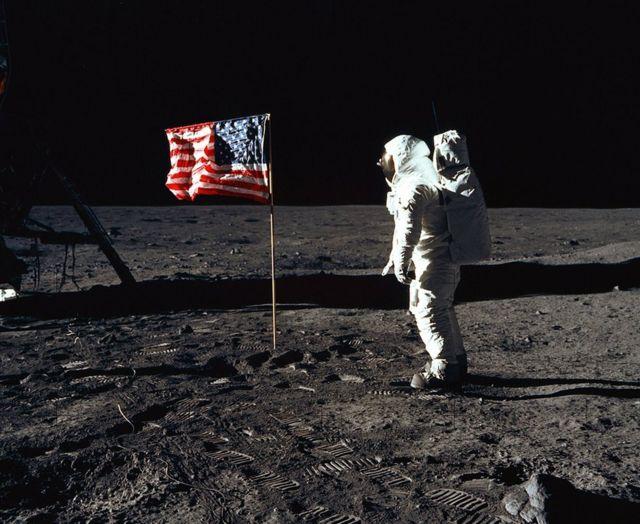 Buzz Aldrin na Lua em 1969