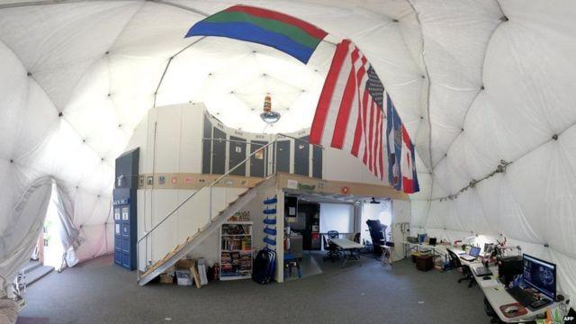 Внутри строения, которое участвовало в эксперименте