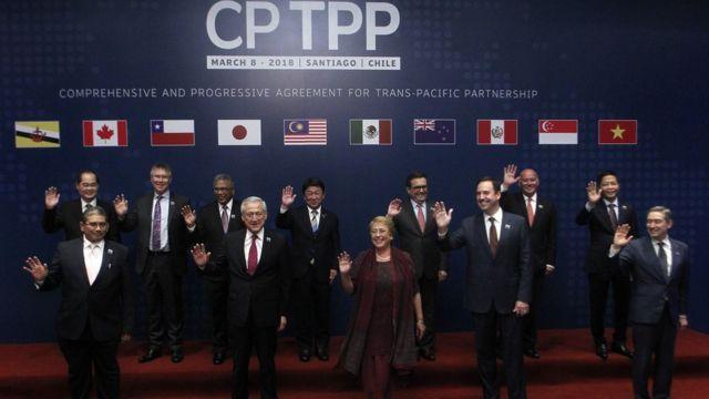 CPTPP ký kết ở Santiago, Chile hôm 8/3/2018
