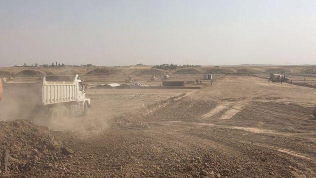 مخيم اليونيسيف شمال الموصل في أكتوبر/تشرين الأول 2016