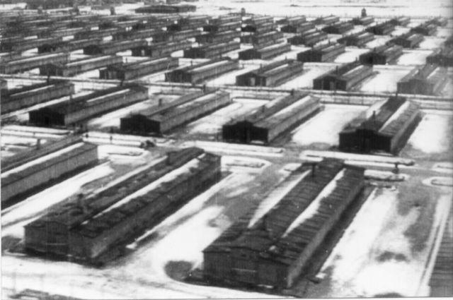 Imagen aérea de Auschwitz