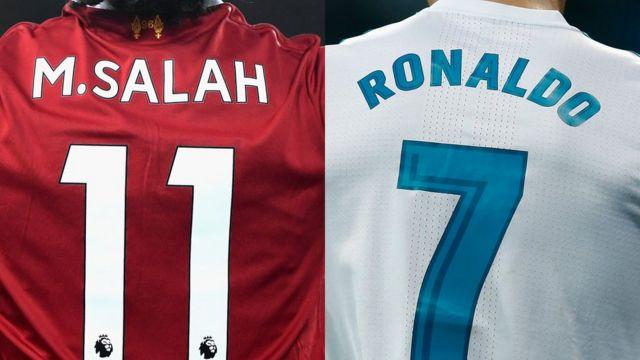 Mohamed Salah y Cristiano Ronaldo