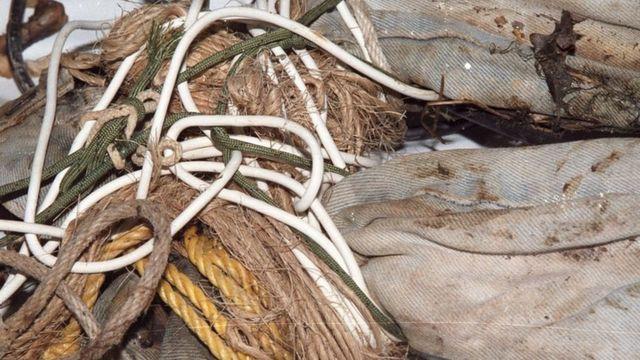 6 tipos diferentes de corda enroladas
