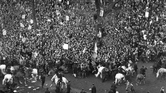 제이콥스 방식이 처음 도입된 미국 베트남전 반대 집회 시위