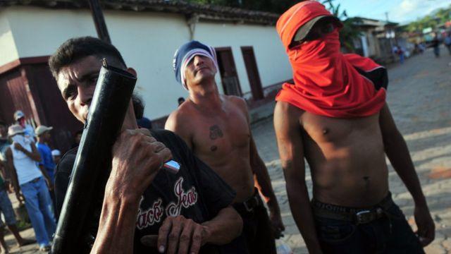 Tres pandilleros nicaragüenses