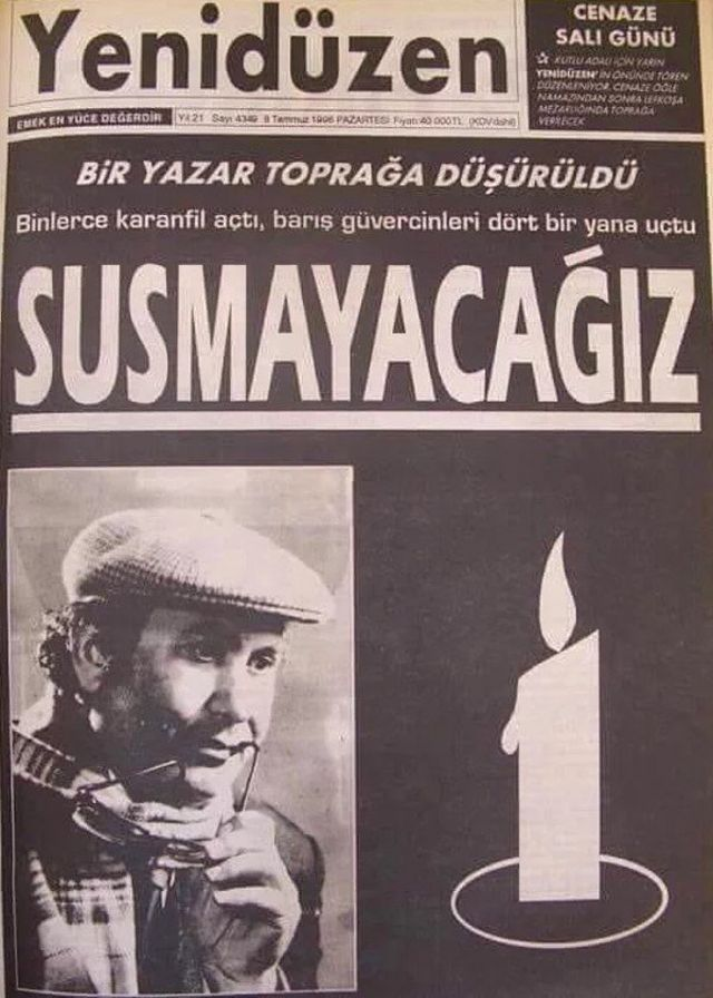 Kutlu Adalı'nın da yazarı olduğu, Kıbrıs'ta yayın yapan Yenidüzen gazetesi.