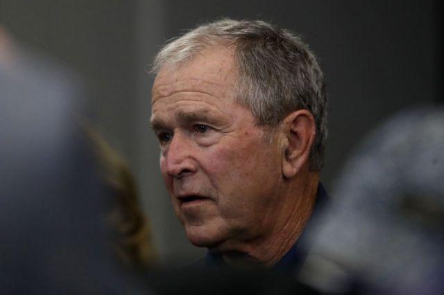 الرئيس الأمريكي السابق جورج دبليو بوش، 6 أكنوبر/تشرين أول 2019