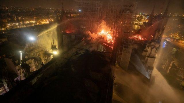 Imagen tomada desde el techo de la catedral.