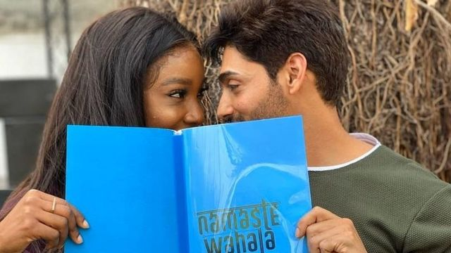 Ini Dima-Okojie and Indian actor, Ruslaan Mumtaz