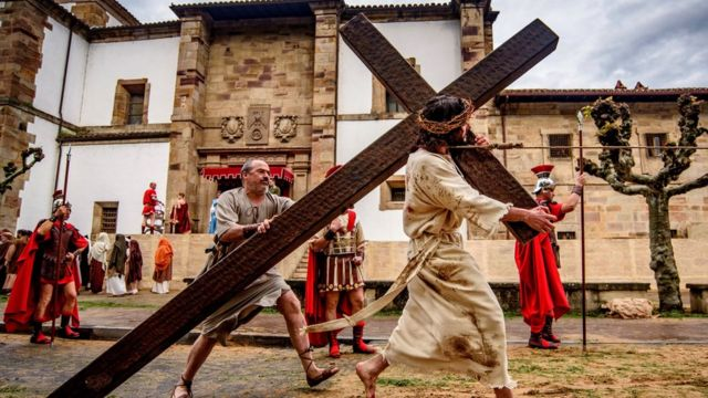 People re-enact the Passion of Jesus in Spain