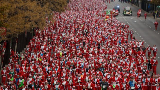 Some of the runners in Madrid
