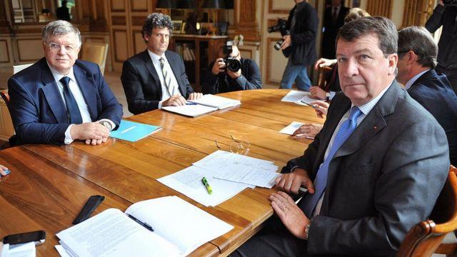 Directivos de France Telecom y ministro de Trabajo