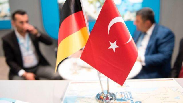 Türkiyə-Almaniya bayraqları