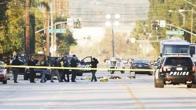 Scene of shooting in San Bernardino, California