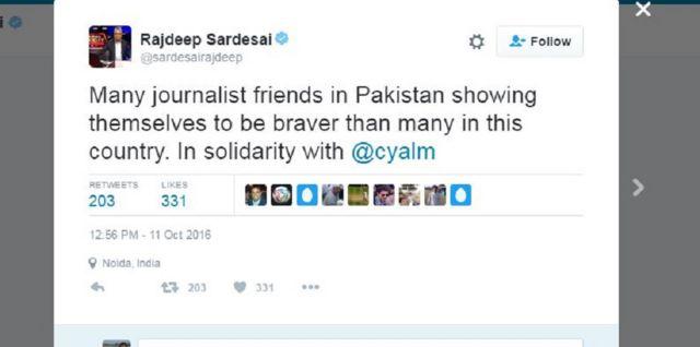 राजदीप का ट्वीट