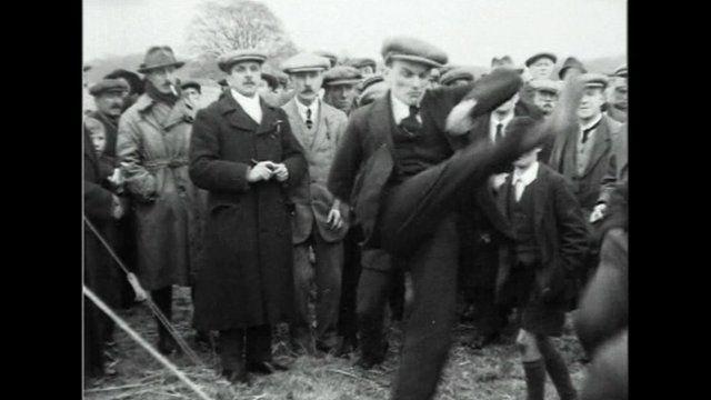 Pathe film of Alnwick 'ball game'