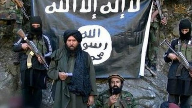 El líder de la rama de EI, Khorasan, Hafiz Saeed Khan.