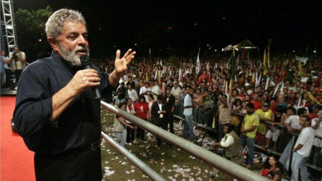 Lula em ato da pré-campanha