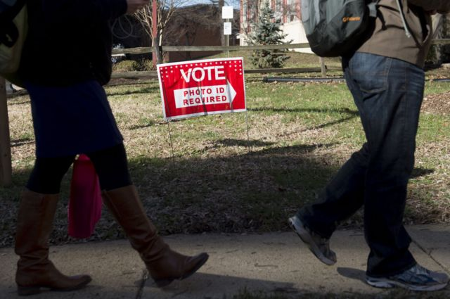 Votantes en Arlington, Virginia, Estados Unidos
