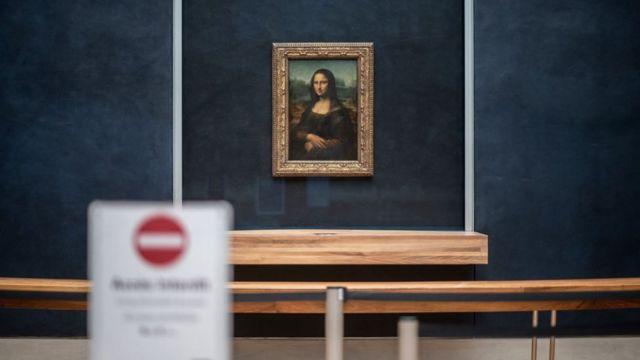 """""""Мона Лиза"""" в Лувре"""