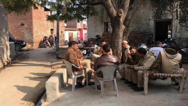 સંજલિના ઘરની બહાર પોલીસ